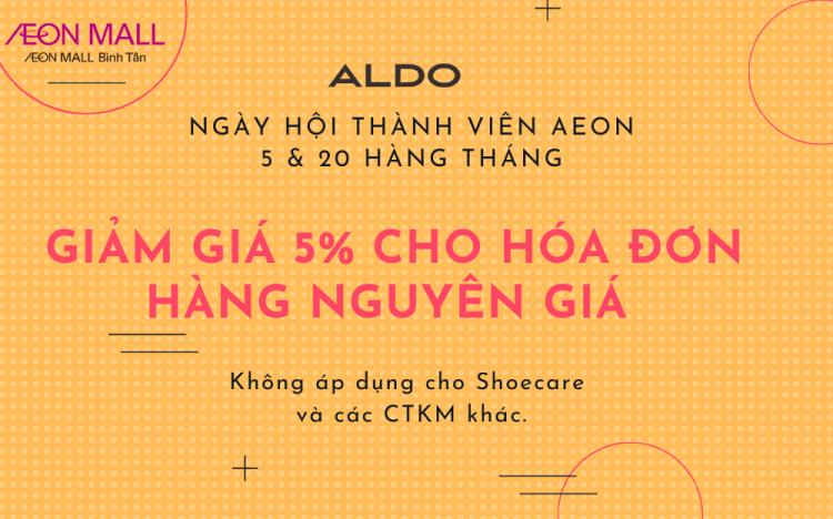 Aldo – Chương trình ngày hội thành viên