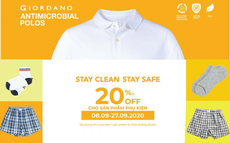 GIORDANO – STAY CLEAN – STAY SAFE ✊✊